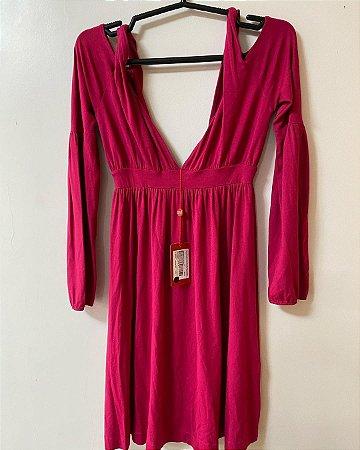 Vestido Pink Decote