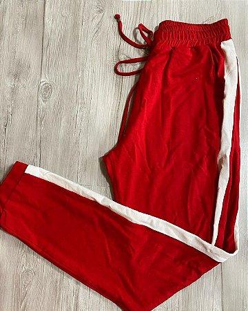 Calça Malha Vermelha