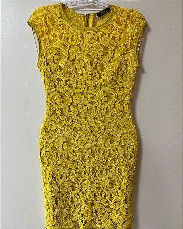 Vestido Amarelo Renda