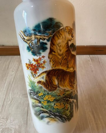 Vaso Chinês Tigres