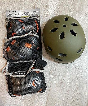 Kit Protetor Skate Completo