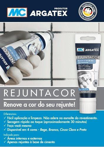 Renovação de Rejunte Rejuntacor ZAP 5 branco Mc Bauchemie (75 ml)