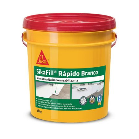 Sikafill Rapido Branco - Gl 3,6
