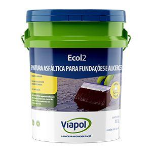 Impermeabilização Asfaltico para Base umida ECOL 2 Viapol (18l)