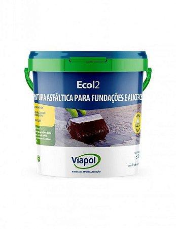 Impermeabilização Asfaltico para Base umida ECOL 2 Viapol ( 3,6 l)