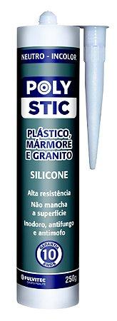 Silicone Neutro Polystic - 250 G Incolor