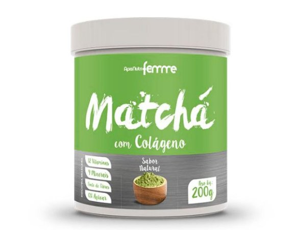 Matchá com Colágeno 200gr – Sabor Natural
