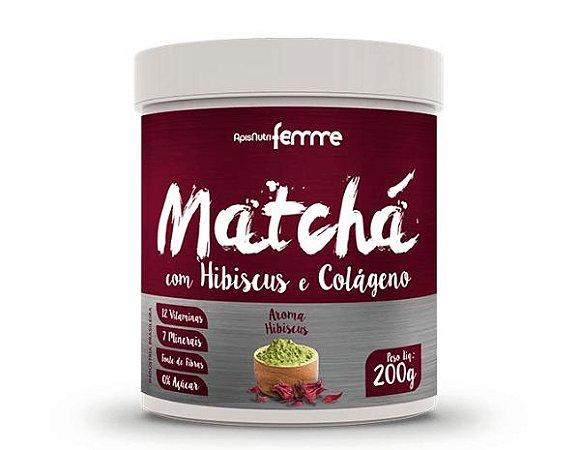 Matchá com Hibiscus e Colágeno 200gr – Aroma Hibiscus