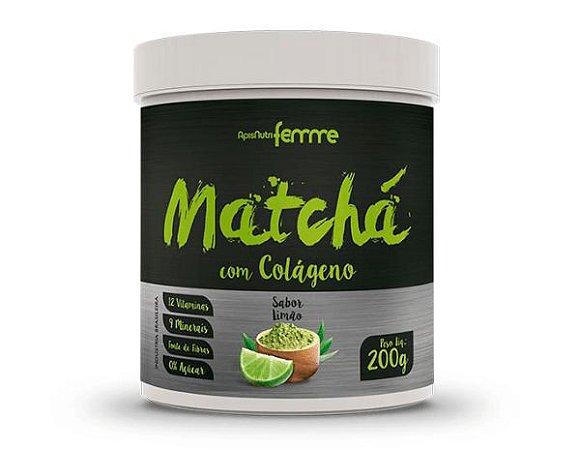 Matchá com Colágeno 200gr – Sabor Limão