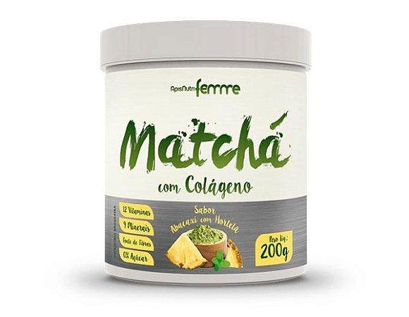 Matchá com Colágeno 200gr – Sabor Abacaxi com Hortelã