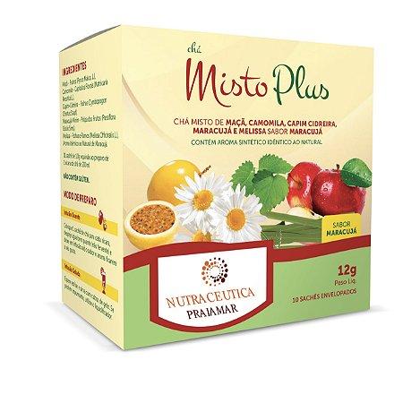 Chá Misto Plus – Chá Misto de Maçã, Camomila, Capim Cidreira, Maracujá E Melissa – Sabor Maracujá