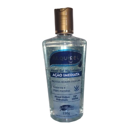 Álcool Gel 70% + Glicerina e Algas Marinhas 230g  - ALQUIGEL