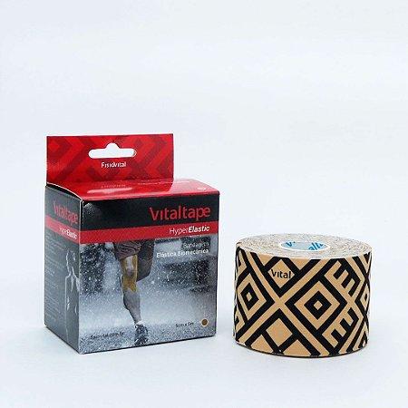 Bandagem Vital Tape Hyper Elastic Sports 5cm x 5m Bege - FisioVital