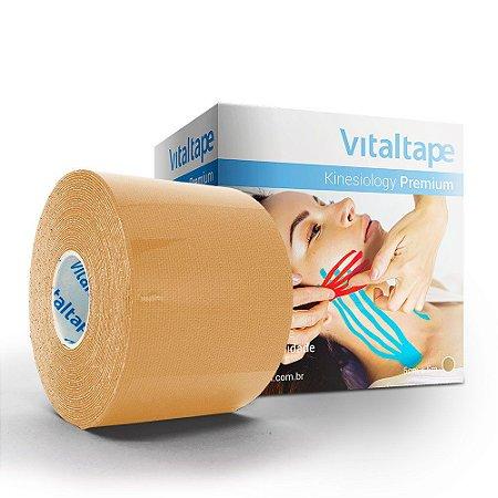 VitalTape Premium Kinesiology cor bege 5cmx5m - Fisiovital