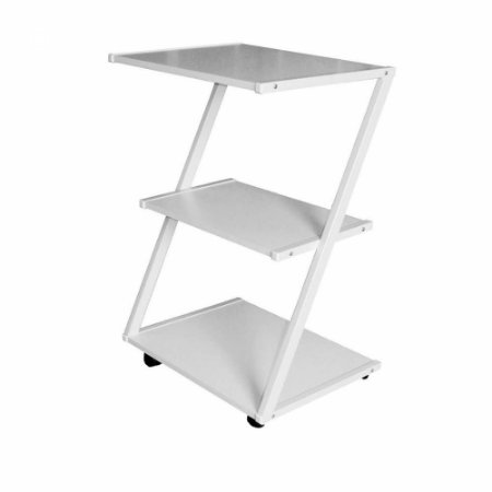 Mesa auxiliar estética branco em Z - Ideal Móveis