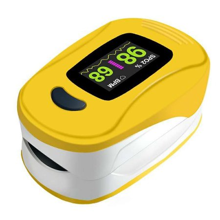 Oximetro de dedo amarelo LCD A3