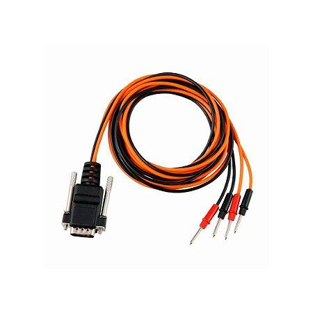 Cabo 38 para Eletroestimulação preto/laranja 2 Vias p/ Neurodyn II/Aussie/Compact - Ibramed