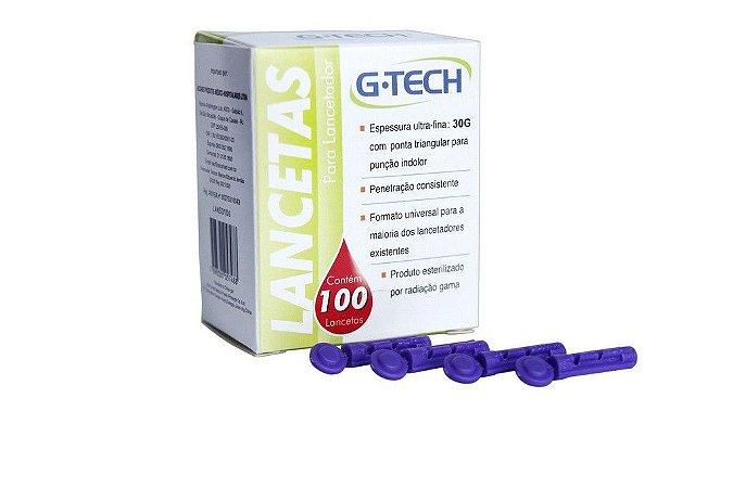 Lanceta P/ Lancetador G-TECH 30G CX COM 100 UND