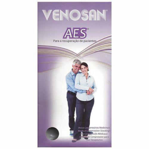 Meia de compressão AD 3/4 18 MMHG pé aberto cor branca AES - Venosan