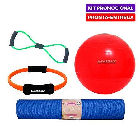 Kit Fit em Casa 1 - Anel+Bola+Elástico+Tapete