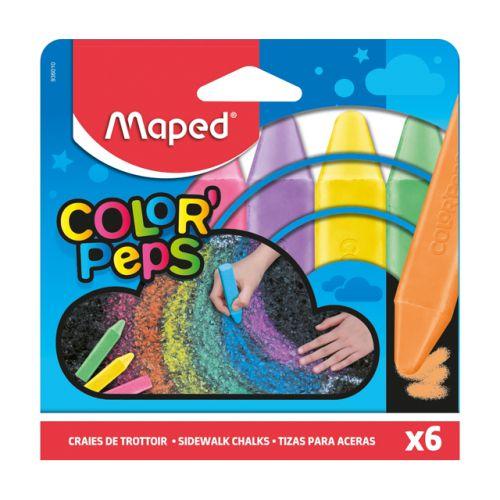 Giz De Chão Maped Color Peps com 6 Unidades