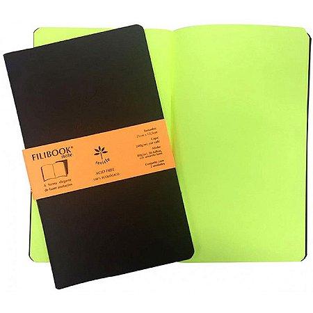 Filibook Note Filiperson Marrom/Amarelo Lumi 21x12,5 com 2