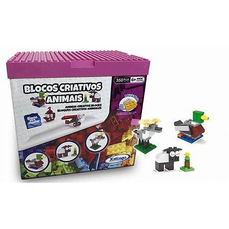 Blocos Criativos Animais 350 peças Xalingo