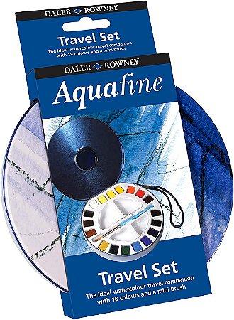 Aquarela Aquafine com 18 cores + pincel