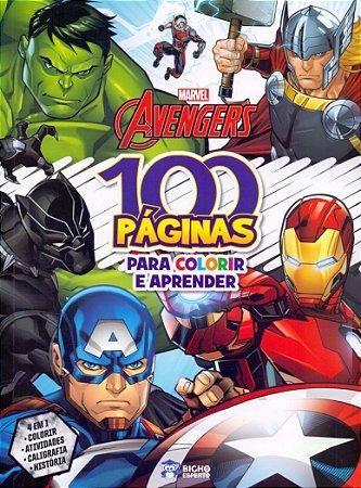 100 Páginas de Colorir Avengers - Editora Curitiba
