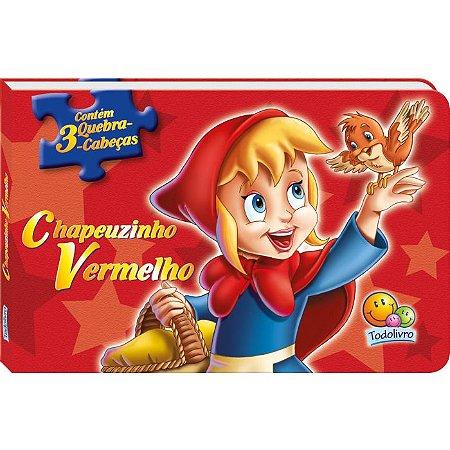 3 Quebra Cabeça Chapeuzinho Vermelho - Editora Todo
