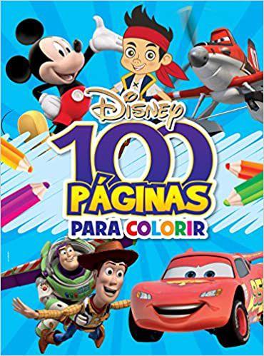 100 Páginas de Colorir Disney - Editora Bicho Esperto