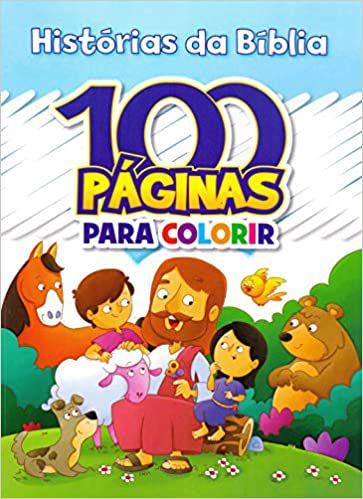 100 Páginas de Colorir Histórias Bíblia - Rideel