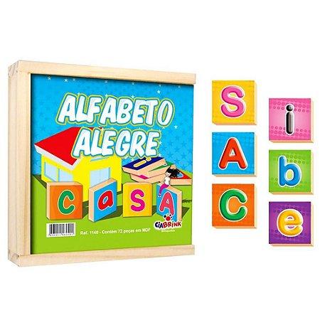 Alfabeto Alegre Ciabrink 72 peças em Madeira
