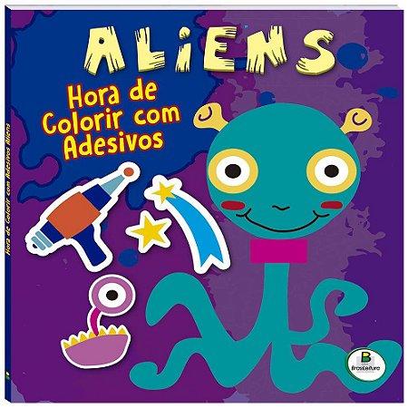 Aliens Hora de Colorir com Adesivos - Editora Brasil Livre