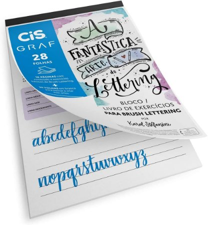 Bloco 180g de Lettering Cis 28 folhas