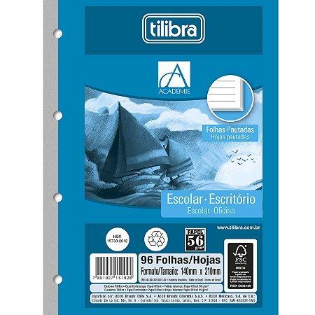 Bloco para Fichário Tilibra A5  140mmx210mm 96 folhas