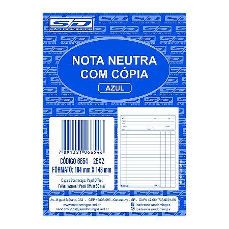 Bloco de Nota Neutra com Cópia São Domingos 104X143mm 25 folhas