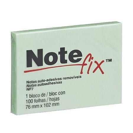 Bloco Adesivo 3M Note Fix 76X102mm Verde 100 folhas