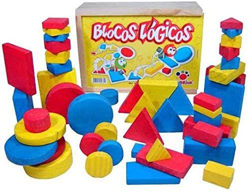Blocos Lógicos Ciabrink 48 peças em Madeira