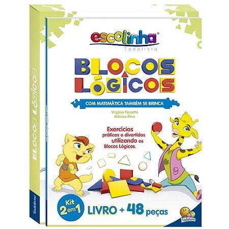 Blocos Lógicos 2 Em 1 Todo Livro 48 peças