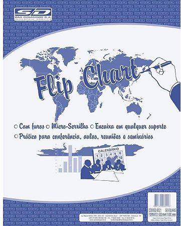 Bloco para Flip Chart São Domingos 63G 630X800mm 50 folhas
