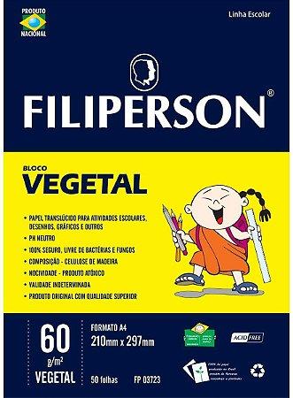 Bloco Vegetal A4 60G Filiperson 50 folhas