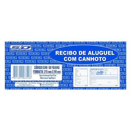 Bloco de Recibo Aluguel São Domingos com Canhoto 215mmx94mm
