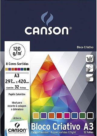 Bloco A3 120G Canson Criativo Cards 32 folhas