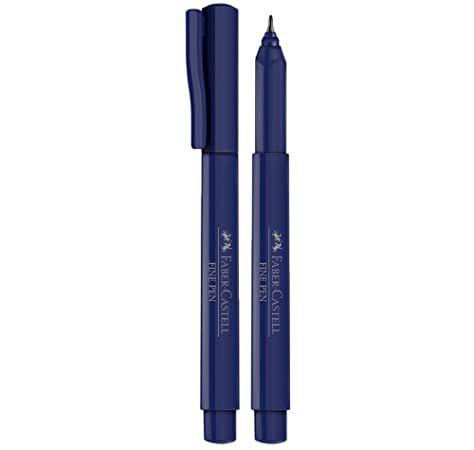 Caneta Faber Castell 0.4 Fine Pen Azul Escuro