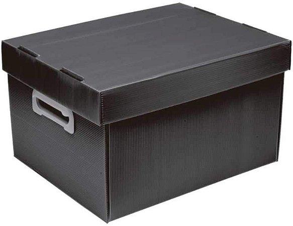Caixa Organizadora Polibras M 212X280X370 mm Preto