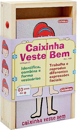 Caixinha Veste Bem Mdf Carimbras