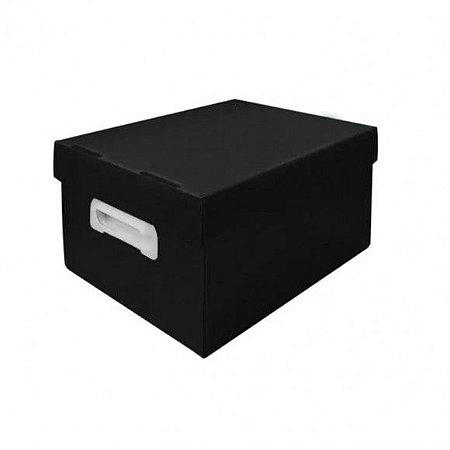 Caixa Organizadora Polibras P 180X255X335 mm Preto