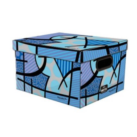 Caixa Organizadora Dello Romero Azul 380X290X185 mm 20,39L