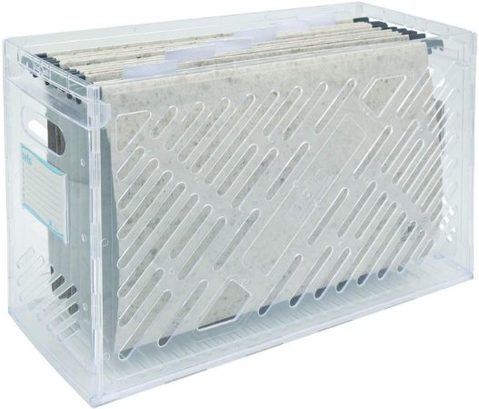Caixa de Arquivo Dello Cristal com 6 Pasta Suspensa